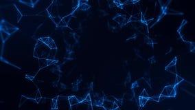 Digitala linjer Intro Logo Motion Background för blå Plexus royaltyfri illustrationer