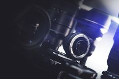 digitala linser för kamera arkivbild