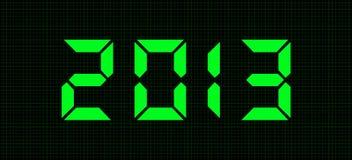Digitale aantallen - 2013 Royalty-vrije Stock Afbeelding