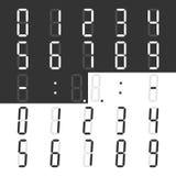 Digitale aantallen en symbolen Stock Illustratie