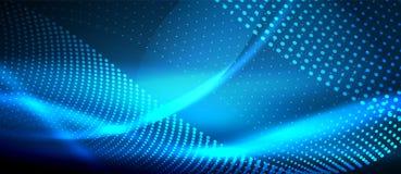 Digitale abstracte achtergrond van de neon de vlotte golf vector illustratie