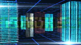 Digitale abstracte blauwe achtergrond Stock Afbeeldingen