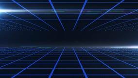 Digitale abstracte blauwe achtergrond Royalty-vrije Stock Foto