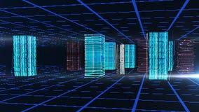 Digitale abstracte blauwe achtergrond Stock Fotografie