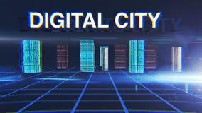 Digitale abstracte blauwe achtergrond Stock Afbeelding