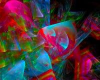 Digitale abstracte fractal, de glanzende fantastische unieke elegantie van het malplaatje mooie ontwerp, werveling, toekomst vector illustratie