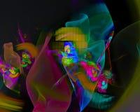 Digitale abstracte fractal, de unieke elegantie van het malplaatje mooie ontwerp, werveling, toekomst stock illustratie