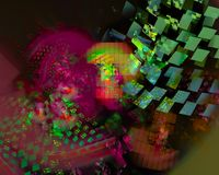 Digitale abstracte fractal, mooie ontwerpelegantie, werveling, toekomst royalty-vrije illustratie
