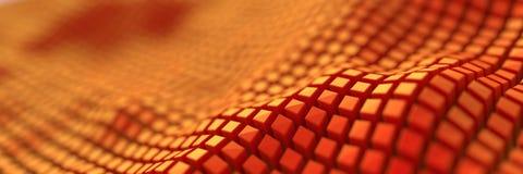 Digitale abstracte kubussenachtergrond Royalty-vrije Stock Fotografie