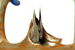 Digitale Abstracte Kunst - de Berg van de Plons Royalty-vrije Stock Afbeeldingen