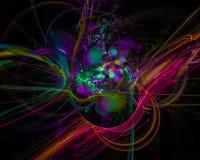 Digitale abstracte machtsfractal, surreal creatieve mooie ontwerp van het stijlontwerp, fantasie, disco, partij stock illustratie