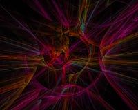 Digitale abstracte machtsfractal, surreal mooie ontwerp van het stijlontwerp, fantasie, disco, partij stock illustratie