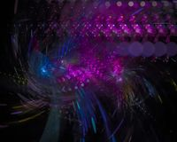 Digitale abstracte machtsfractal, uniek surreal het ontwerp mooi ontwerp van de wervelings creatief stijl, fantasie, disco, parti stock illustratie