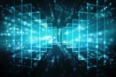 Digitale Abstracte technologieachtergrond, Binaire Achtergrond, futuristische achtergrond, cyberspace Concept Stock Afbeeldingen