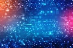Digitale Abstracte technologieachtergrond, cyber ruimteachtergrond, futuristische achtergrond royalty-vrije stock foto's