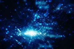 Digitale Abstracte technologieachtergrond, futuristische achtergrond Stock Afbeeldingen