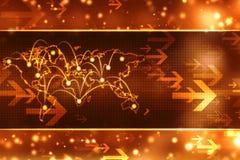 Digitale achtergrond, futuristische achtergrond, bedrijfsachtergrond Royalty-vrije Stock Afbeeldingen