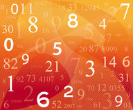 Digitale achtergrond met aantallen Stock Afbeelding