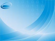 Digitale achtergrond met binaire code Stock Afbeelding
