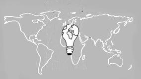 Digitale animatie van een globaal idee royalty-vrije illustratie