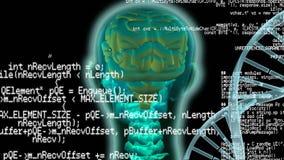 Digitale animatie van een menselijk hoofd royalty-vrije illustratie