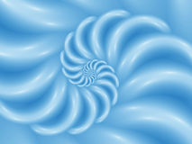 Digitale Art Abstract Blue Glossy Spiral-Achtergrond Stock Afbeeldingen