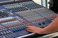 Digitale audiomixer Stock Foto's