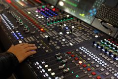 Digitale audioproductieconsole Royalty-vrije Stock Foto's