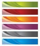 Digitale banners in gradiënt en lijnen Royalty-vrije Stock Afbeelding