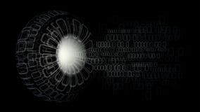 01 digitale bedeutende große Datencomputer Lizenzfreie Stockbilder