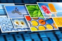 Digitale beeldspraak stock foto's