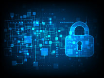 Digitale bescherming en veiligheid Royalty-vrije Stock Afbeeldingen