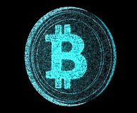 Digitale Bitcoin Royalty-vrije Stock Afbeelding