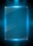 Digitale blauwe achtergrond Stock Afbeelding