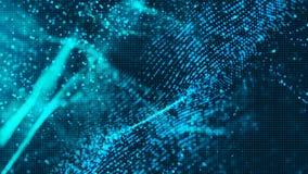 Digitale blauwe de deeltjes abstracte achtergrond van de kleurengolf voor uw B stock illustratie