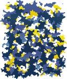 Digitale blauwe en gele camouflage vector illustratie