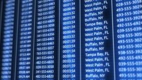 Digitale blauwe geautomatiseerde telefoonverslagen in online gegevensbestand vector illustratie