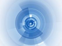 Digitale blauwe nadruk Royalty-vrije Stock Fotografie