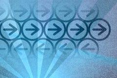 Digitale blauwe pijlen Stock Illustratie