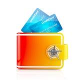 Digitale brandkast voor elektronisch geld Royalty-vrije Stock Afbeeldingen