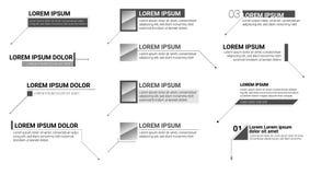 Digitale calloutstitels Reeks informatieetiketten Moderne banners van lager die derde voor presentatie op wit wordt geïsoleerd stock illustratie