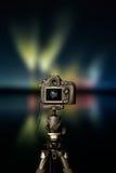 Digitale camera de nachtmening stock fotografie