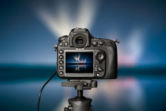 Digitale camera de nachtmening vector illustratie