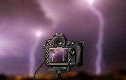 Digitale camera de nachtmening royalty-vrije stock fotografie