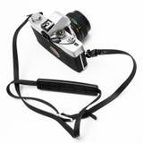Digitale camera die op witte achtergrond DSLR wordt geïsoleerdd Royalty-vrije Stock Foto's