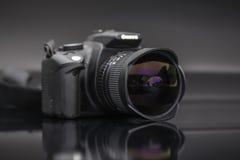 Digitale camera met de lens van het vissenoog Royalty-vrije Stock Fotografie