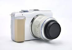 Digitale Camera met lens royalty-vrije stock fotografie