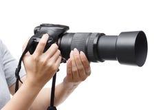 Digitale camera met zoomlens Stock Foto's