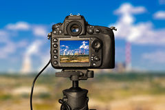 Digitale camera op dag royalty-vrije stock fotografie