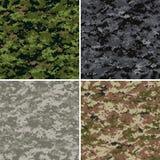 Digitale camouflagepatronen stock illustratie